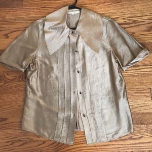 Phillip Lim gold blouse. Very good condition.